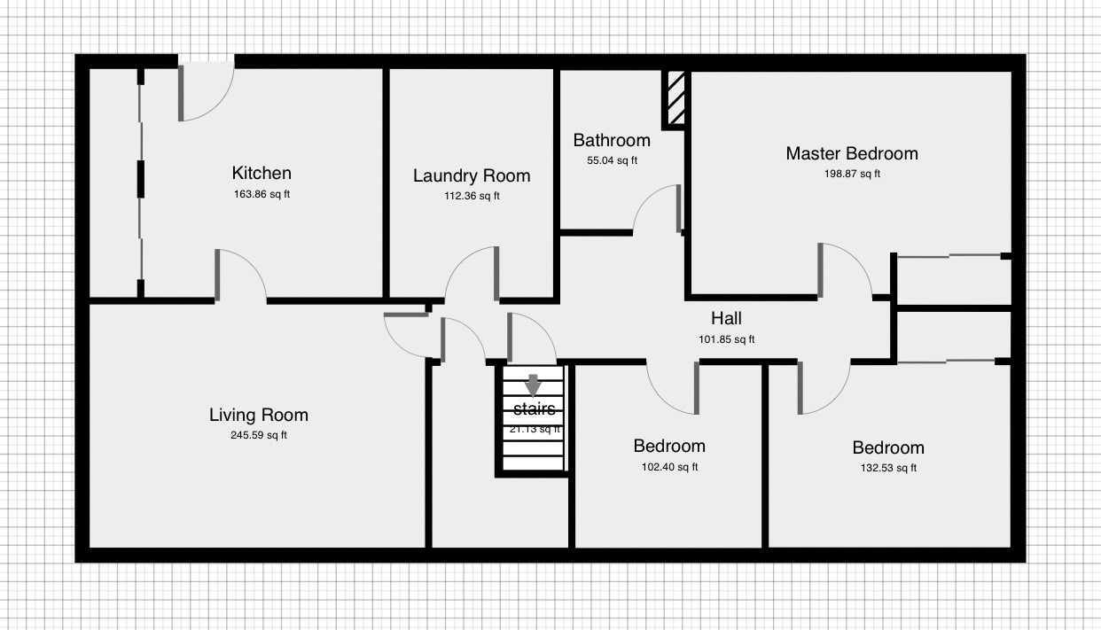 Floor plan horizontal