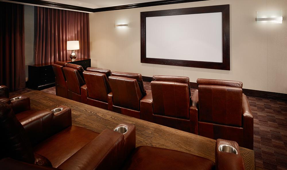 Theatre room at luxury apartments in atlanta georgia