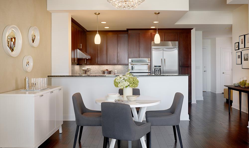Open kitchen at luxury apartments in atlanta georgia